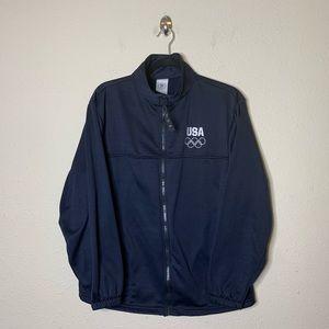 USA Olympic Blue Full Zip Track Jacket